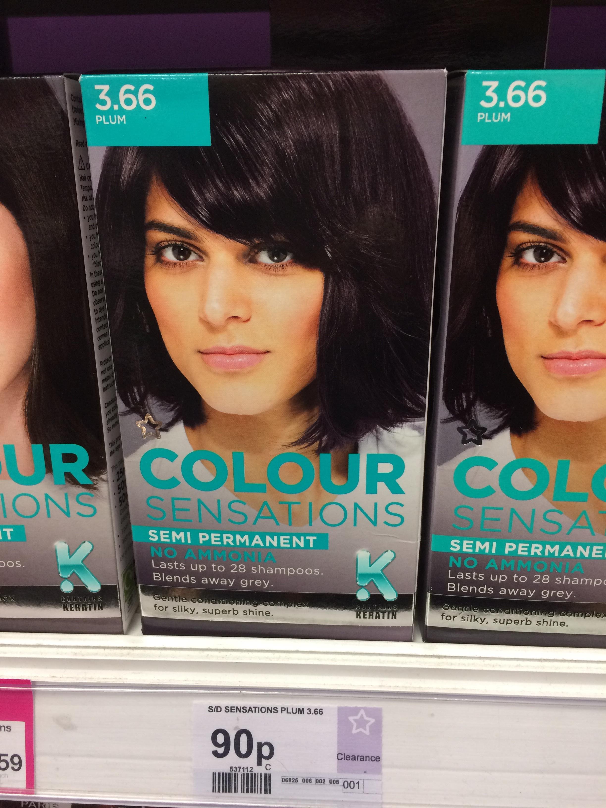 Superdrug hair dye Plum 3.66 90p in Braehead