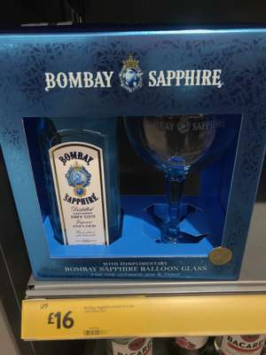 Bombay Sapphire 70cl gin including balloon glass £16 from Morrison's in store (Thamesmead)