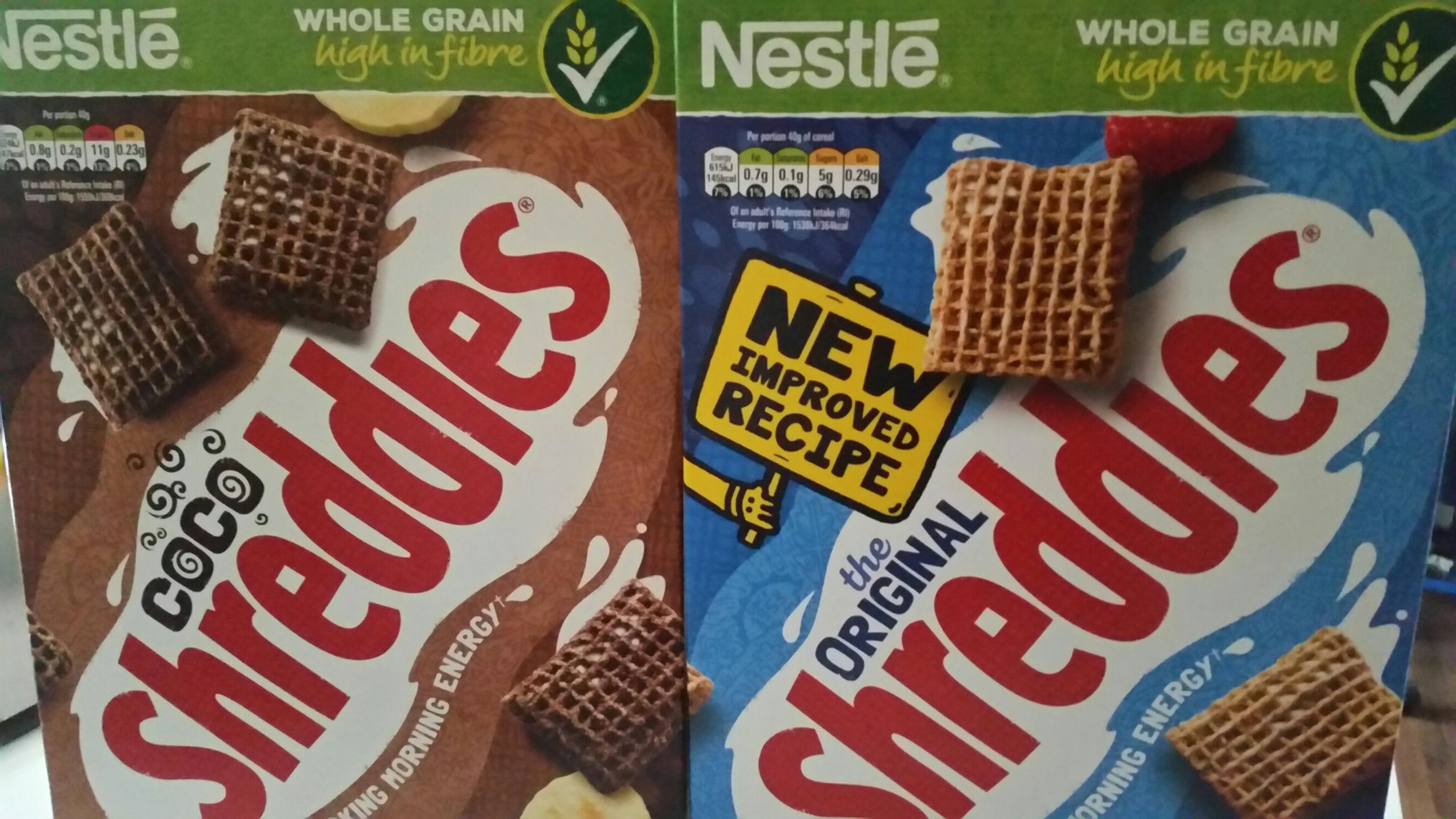 Shreddies coco £1.30 and Shreddies  £1.00 instore and online @ Tesco.