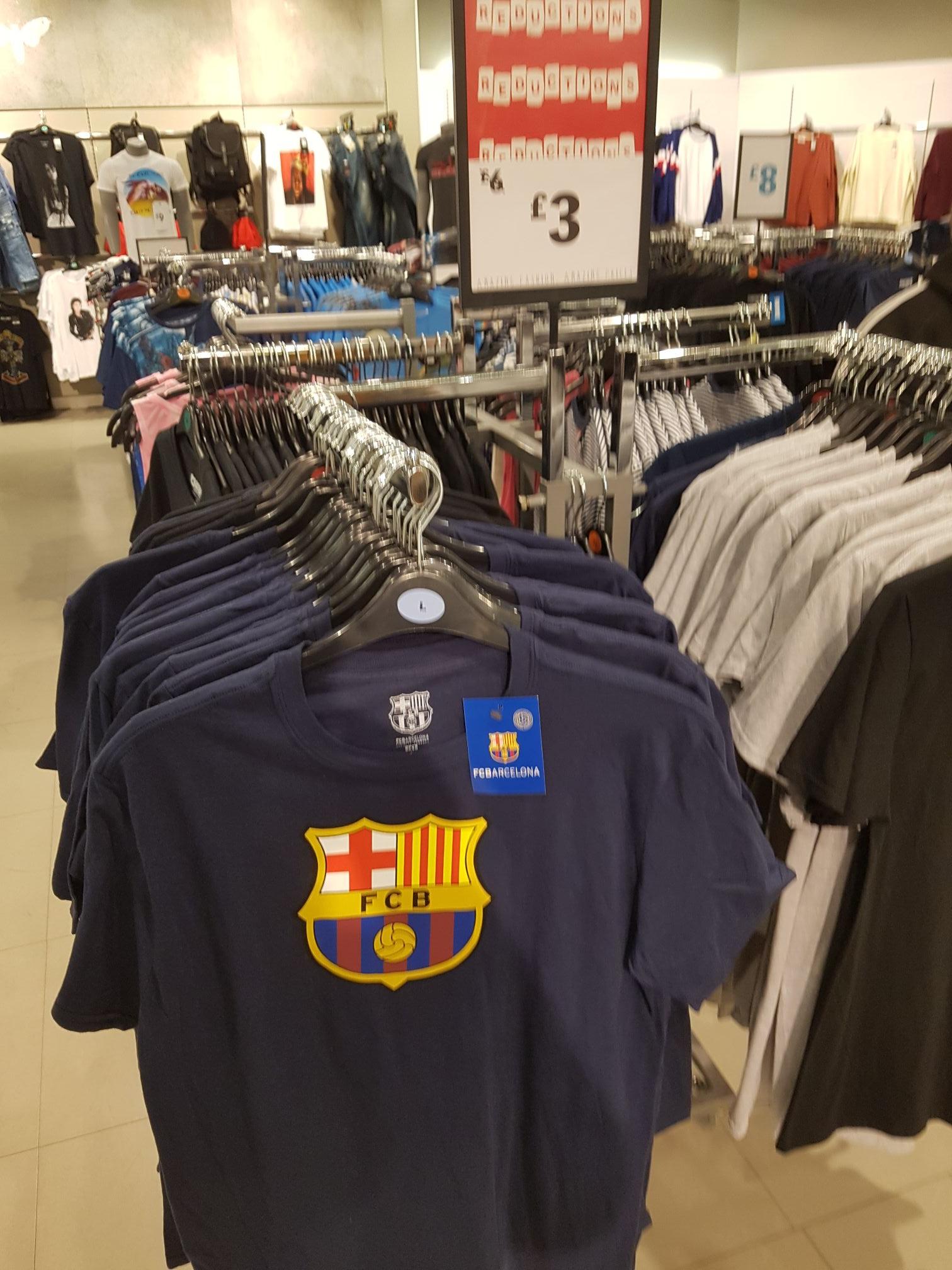 Barcelona t shirts £3  / Crash Bandicoot T-shirts £3 instore @ Primark Liverpool
