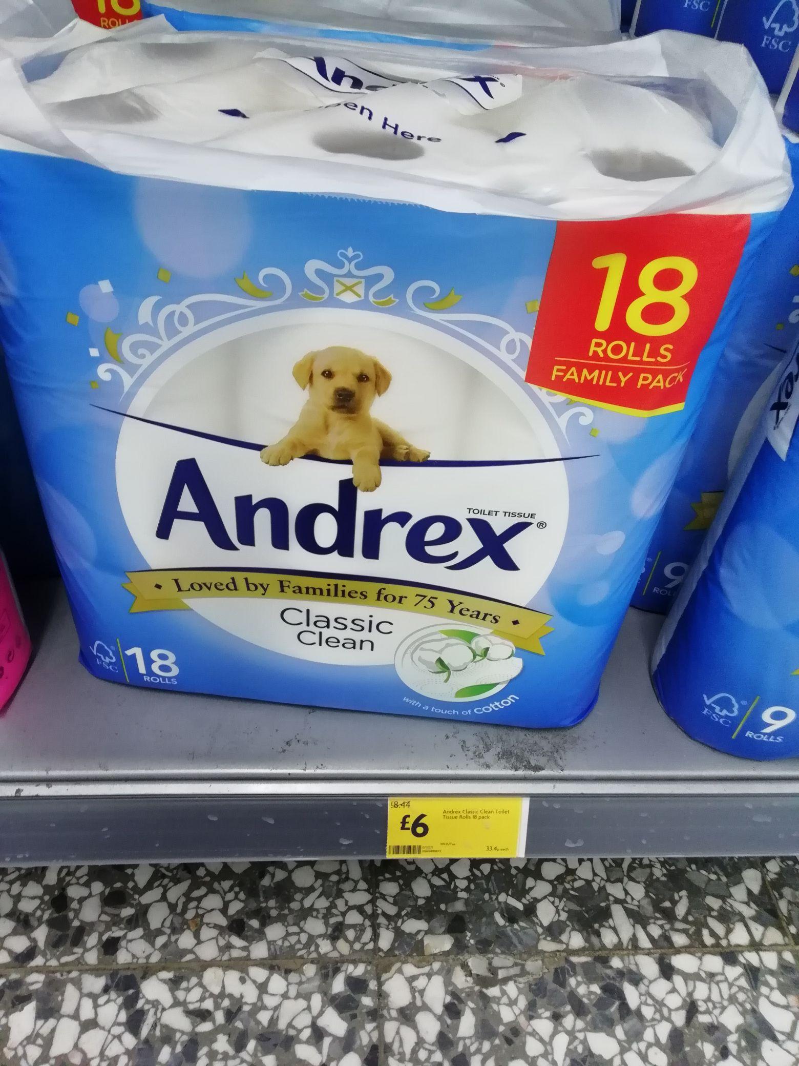 Andrex 18 rolls for £6 @ Morrisons