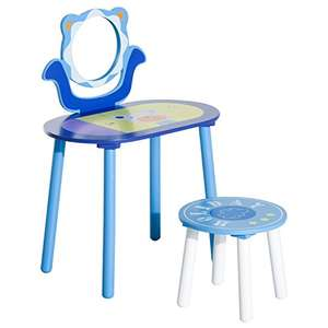 HOMCOM Kids Wooden Dressing Table and Stool Make Up Desk in blue. £12.34 delivered. RRP £35.99 @ Amazon / Dispatched from and sold by MHSTAR.