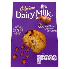 4 Cadbury Dairy Milk Caramel & Dairy Milk Cookies Reduced From £1.30 To £1 @ Asda
