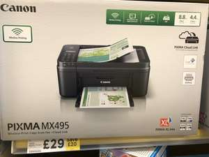 Canon Pixma MX495 printer - £29 in store at Tesco (Yiewsley)