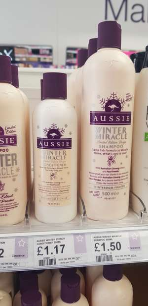 Aussie winter miracle large shampoo bottle 500ml (250ml conditioner too for £1.17) in-store Superdrug