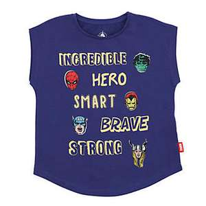 Disney / Marvel T- Shirts was £10 Now £4.00 w/code / Disney Store Stationery Supply Kits were £11 now £4.99 @ Shop Disney