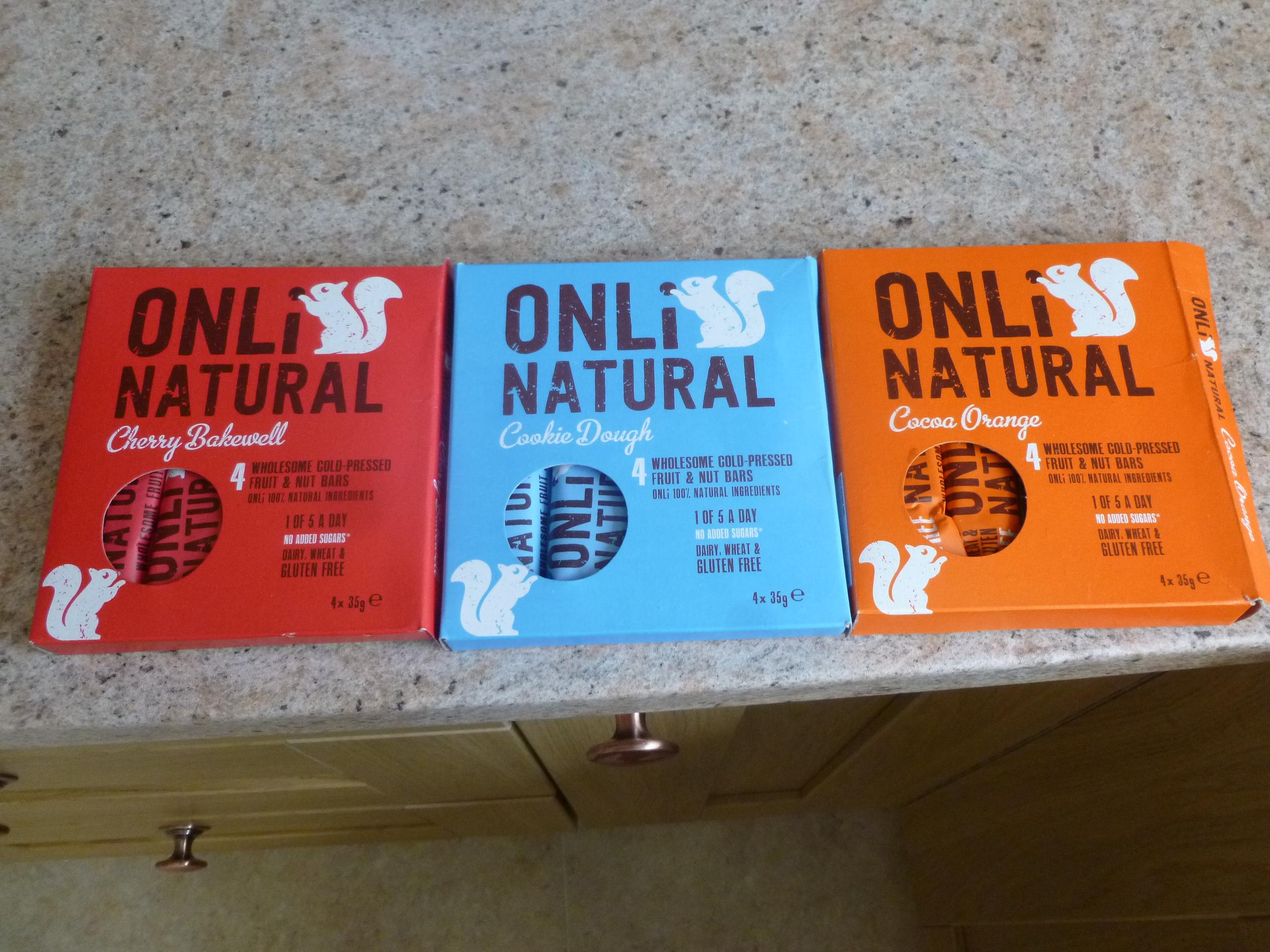 Onli Natural bars (like Nakd) - £1.49 (4 pack) at Home Bargains