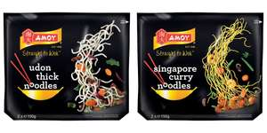 Amoy Singapore Curry Noodles And Amoy Udon Thick Noodles Are 2 For £1 In Heron Foods