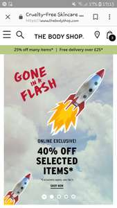 Body shop 40% off selected products