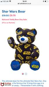 Build a bear national teddy bear day sale- start from £9.75 (+£3.99 P&P)