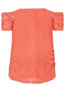 Maternity Coral Lace Bardot Top NOW £5.00 @ Dorothy Perkins (free C&C)