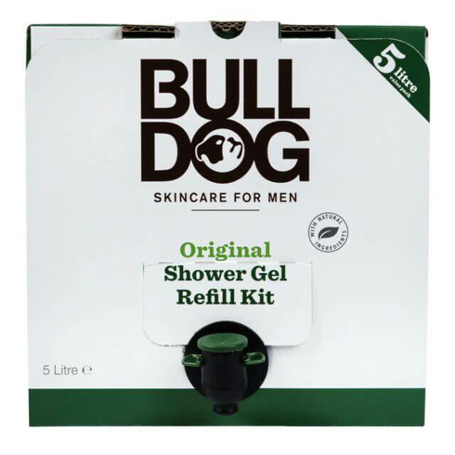 Bulldog Skincare Shower Gel refill kit 5 litre for £25.00, delivered free.