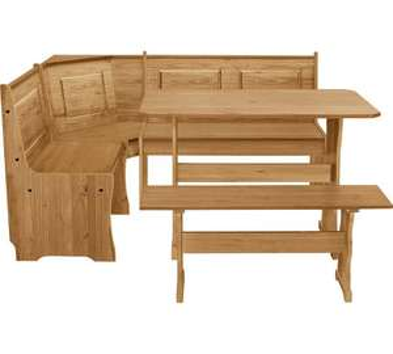 Update 3/10 - Argos Home Puerto Rico Wood Nook Table & 3 Corner Bench Set now £154.94 Del w/code @ Argos (25% off wys £150 on Furniture) - more in OP