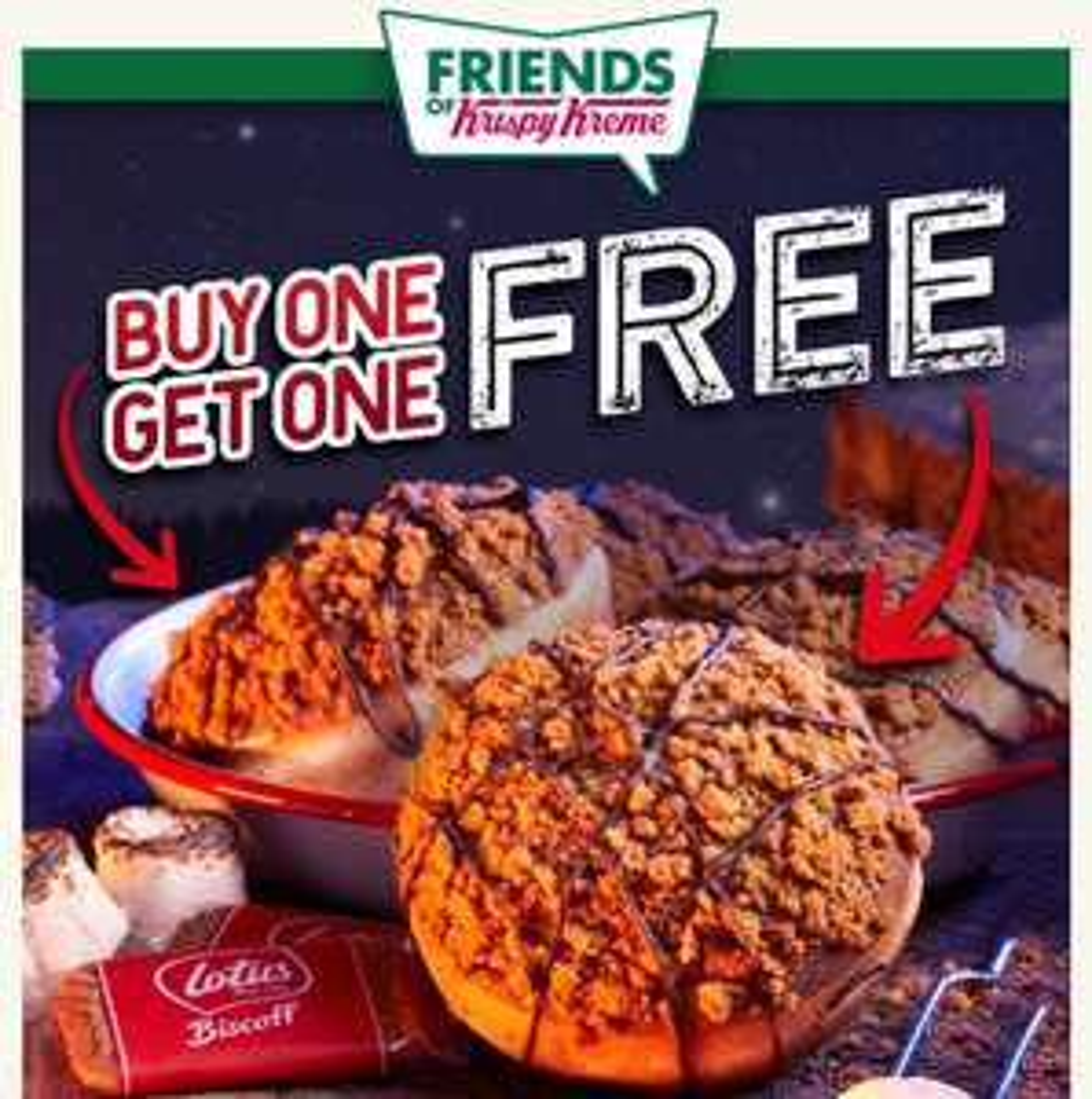 BOGOF On Lotus Biscoff doughnut this Wednesday @ Krispy Kreme's