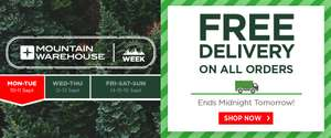 Free Delivery no minimum order @ Mountain Warehouse