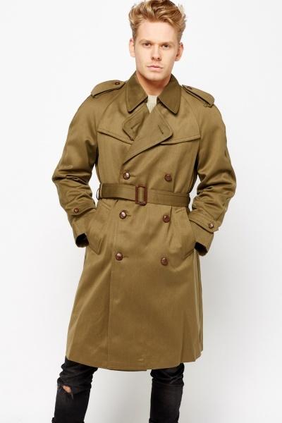 Mens Khaki Oversized Trench Coat £5 / £8.95 delivered @ Everything £5