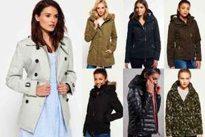 £5 off £40 spend on Superdry eg womens jackets were £41.99 now £36.99 delivered @ eBay sold by Superdry