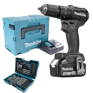 Makita DHP483BRJX 18v Black Brushless Combi Drill with 1 x 3.0Ah Battery £119.99 @ ITS