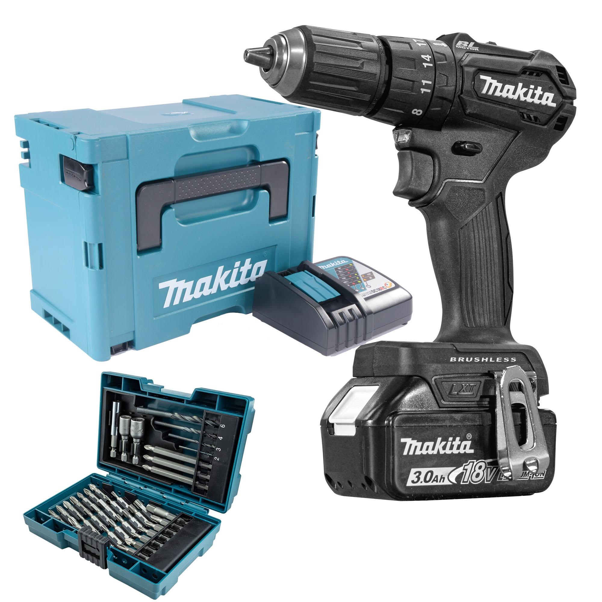 Makita DHP483BRJX 18v Black Brushless Combi Drill with 1 x 3.0Ah Battery £119.99 @ ITS