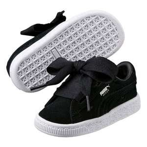 Infant Puma Suede Valentine Trainers in Black £13 @ USC