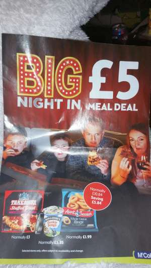 £5 Meal deal at mcolls
