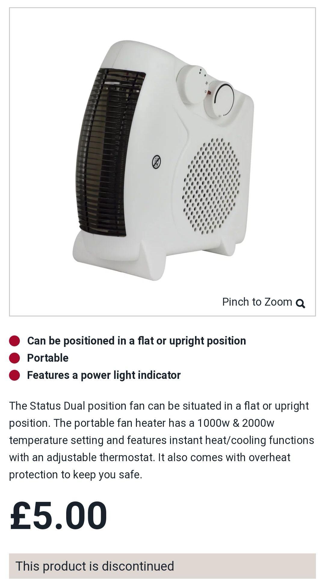 Better than half price fan/heater - £5 @ Wilko in store