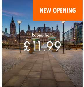 Easy Hotel 30% discount code Sheffield rooms from  £11.99 a night also discounts on Leeds, Belfast & Barcelona