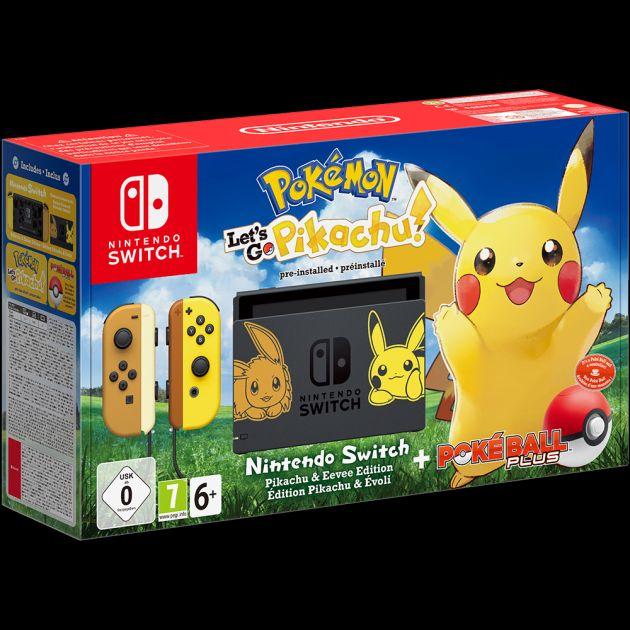 Nintendo Switch Pokémon Let's Go Pikachu! Limited Edition Bundle £339.99 @ Game