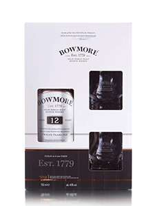Bowmore 12 Year Old Islay Single Malt Scotch Whisky Gift Pack, 70 cl £28.90 Amazon