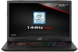 "ASUS ROG STRIX GL703GS - i7-8750H - 17.3"" 3ms 144hz G Sync screen - 16GB DDR4 RAM- 256GB M.2 - 1TB SSHD - GTX 1070 + Free copy of Black ops 4 £1499.97 @ Box"