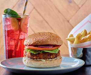 GBK All-Rounder - 6oz classic burger, small fries and one signature Fresh & Fizzy drink £9.95 any day after 5pm