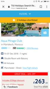 All inclusive 1 week in MARRAKECH,MOROCCO from Manchester - £263pp / Total £526 @ Tui