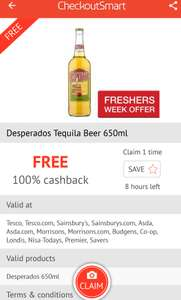 Desperados Tequila Beer 650ml 100% cash back on checkout smart