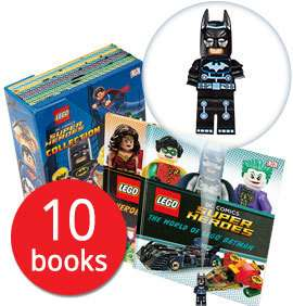LEGO DC Comics Super Heroes Collection - 10 Hardback Books (Boxed in Slipcase) with exclusive Minifigure of Batman £12 delivered @ The Book People