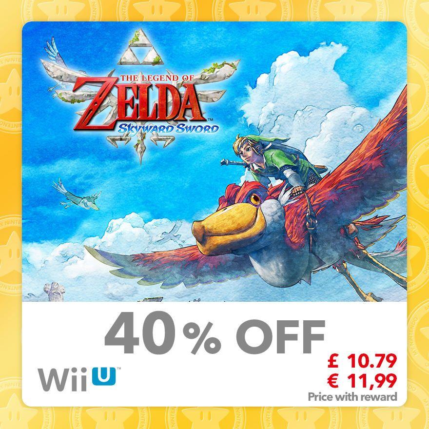 The Legend of Zelda: Skyward Sword (Wii U) £10.79 + 80 Gold @ Mynintendo