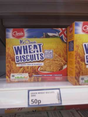Grain wheat biscuits 16 pack, 50p @ Poundstretcher.