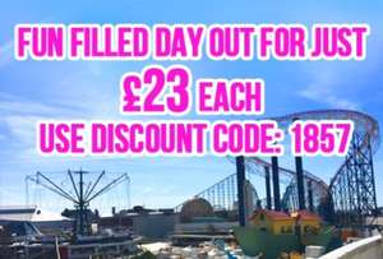 Blackpool Pleasure Beach - £23 Wristbands with Code (Half term £19.50pp)
