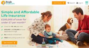 Beagle Street Life Insurance £50+ TopCashback with 6 month payments