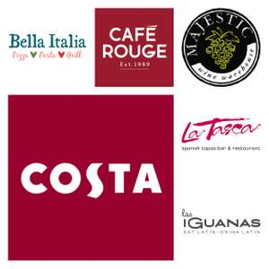 Free £2.45 Costa Gift Card AND £3 Bella Italia/Café Rouge/La Tasca/Las Iguanas/Belgo/Majestic Wines Beefsteak Malbec AND PayAsUGym Free Day Pass @ Wuntu