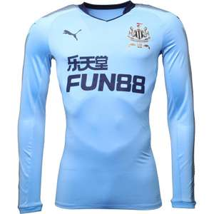 Puma Mens NUFC Newcastle Long Sleeve Away Shirt Little Boy Blue/Peacoat £25.99 @ M&M Direct (£4.99 delivery)