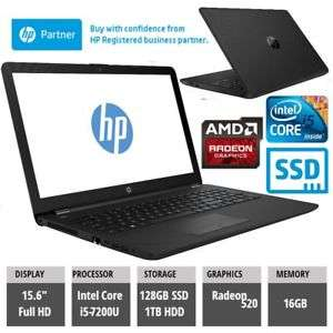 HP Laptop 15-bs054nz Radeon 520 Intel i5-7200U 16GB RAM 1TB + 128GB SSD - ( HP remanufactured) £499.99 eBay /  compadvance_outlet