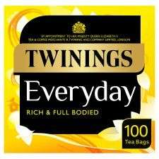 Twinings Everyday 100 Tea Bags £2.50 @ Tesco