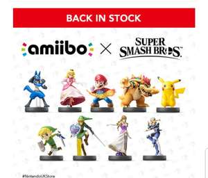 Pre Order Smash Bros amiibo Including Toon Link, Zelda, Sheik @ Nintendo.co.uk £10.99 + £1.99 del