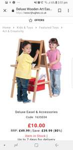 Deluxe easel and accessories - £10 (+ £1.99 C&C or £3.99 Delivery) @ TJ Hughes