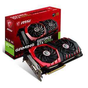 MSI NVIDIA GeForce GTX 1070 Ti 8GB GAMING Graphics Card £379.99 / £384.78 delivered (dpd pickup) @ Scan