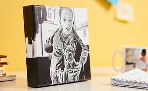 Photobox - 20x20cm canvas lite for £1 + £4.95 delivery (with code)