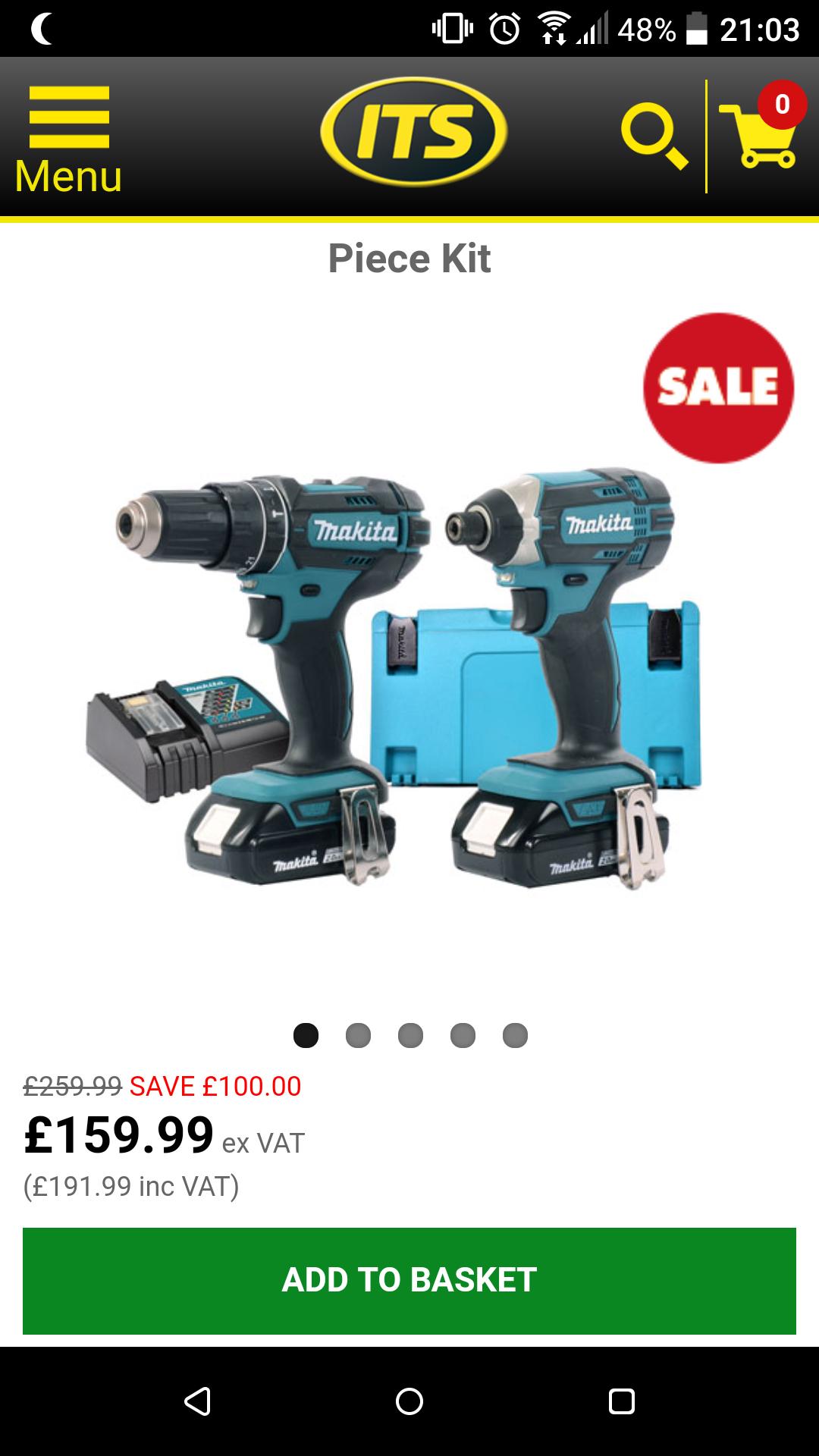 Makita DLX2KITMakita 18v Li-ion 2 Piece Kit - £159. 99 ex VAT @ ITS