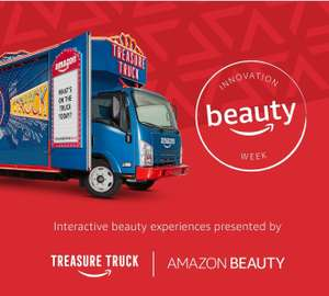 Free Pop-Up Beauty Bar (Maybelline, Lynx, Olay, Rimmel, Love Beauty and Planet brands) @ Amazon Treasure Truck in London, Manchester, and Birmingham