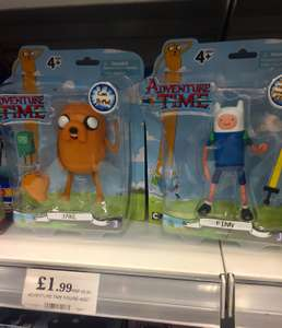 Adventure Time figures in store for only £1.99 at home bargains!