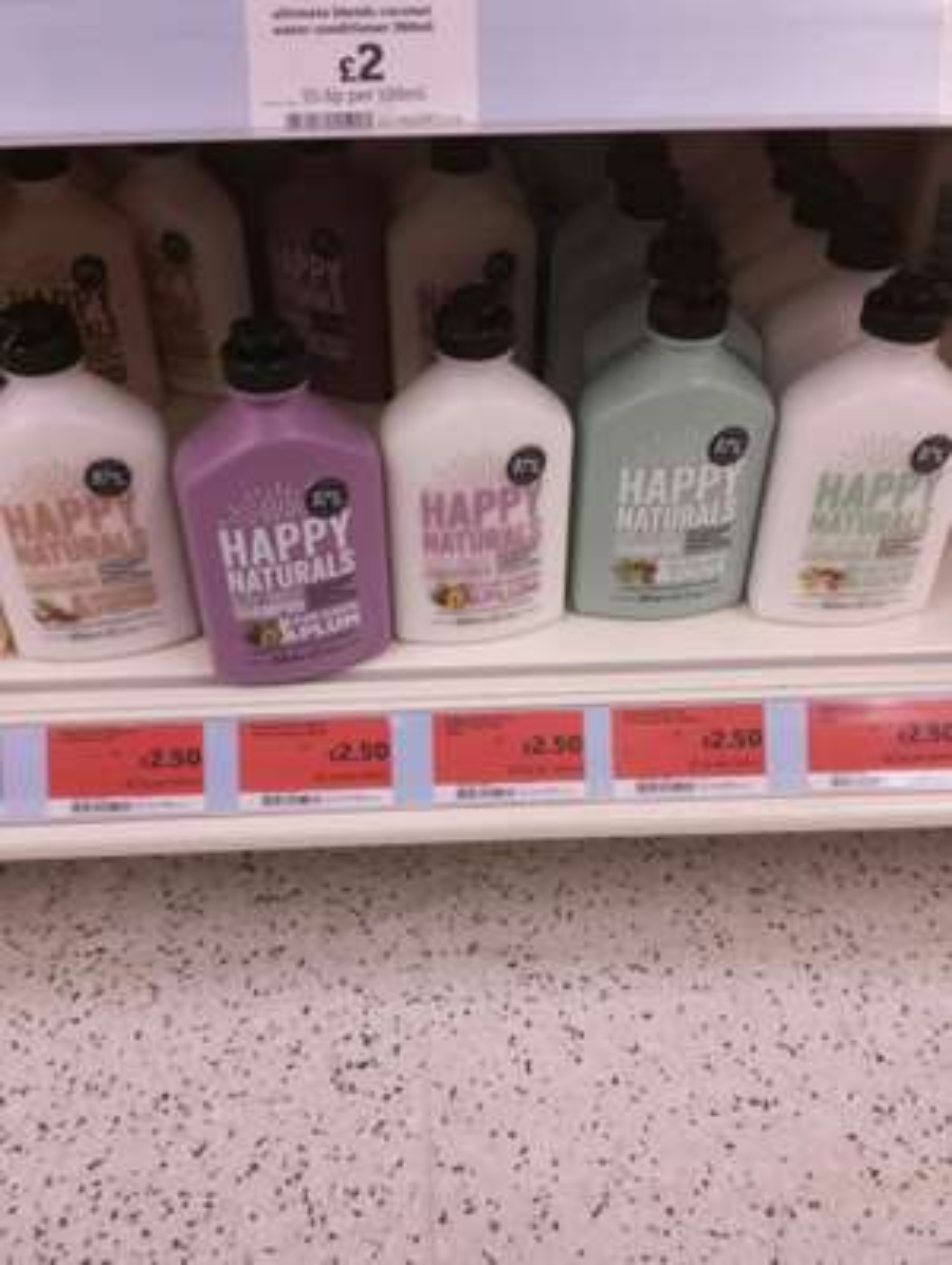 Happy Naturals shampoo and conditioner £2.50 @ Sainsbury's